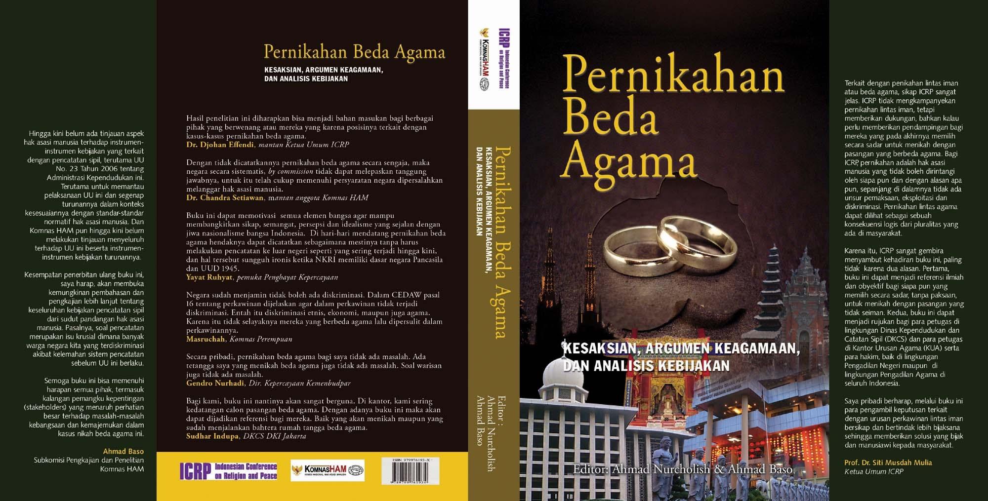 Pernikahan Beda Agama Ahmad Nurcholish